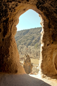 Looking out at Bandelier National Monument