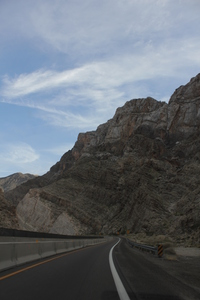 Mountain pass somewhere northeast of Las Vegas