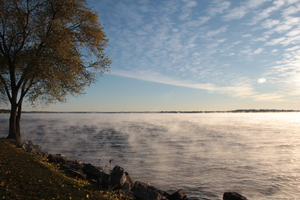 Steam on Lake Monona